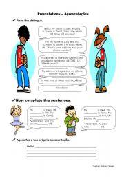 English Worksheets: Presentations Worksheet