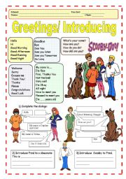 English Worksheets: Greetings/Introducing