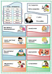 English Worksheet: VERB TO BE - AFFIRMATIVE FORM