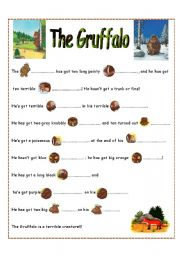 English Worksheet: The Gruffalo part 2