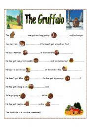 English Worksheets: The Gruffalo part 2