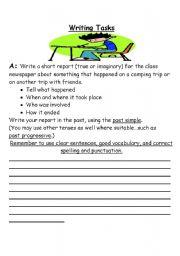 English Worksheets: Writing Tasks