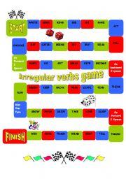 English Worksheet: Irregular Verbs  GAME