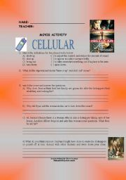 English Worksheets: movie cellular