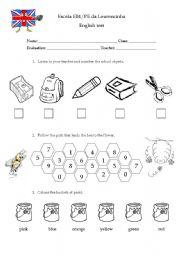 1st grade test