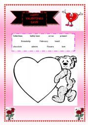 English Worksheet: Valentines worksheet (exercises on another page)
