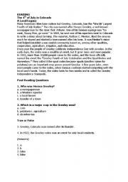 English Worksheets: READINGS AND QUESTIONS ON THEM