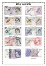 british banknotes esl worksheet by faith2. Black Bedroom Furniture Sets. Home Design Ideas