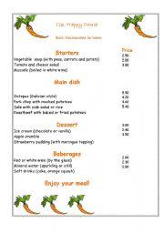 English worksheet: Happy Carrot