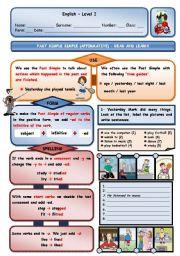 English Worksheet: PAST SIMPLE OF REGULAR VERBS (AFFIRMATIVE)