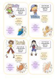English Worksheet: Future telling