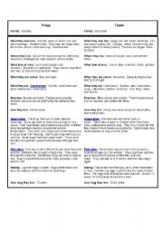 English Worksheets: Compare and contrast (Frogs * Toads)