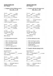 English Worksheet: Song: Tears in Heaven