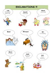 English Worksheet: EXCLAMATIONS !!!