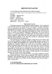 English Worksheet: British Monarchy