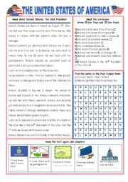 English Worksheet: ENGLISH-SPEAKING COUNTRY (12) - THE USA - EXERCISES (2 pages)