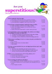 English Worksheets: Are you superstitious?