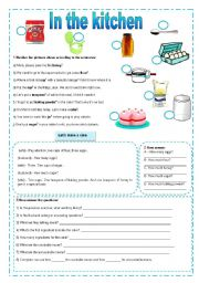 In The Kitchen Vocabulary Grammar And Exercises