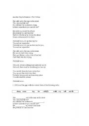 English Worksheets: Another Day In Paradise - Phil Collins