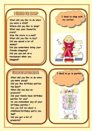 English Worksheet: WHAD DID YOU LIKE TO DO DURING YOUR CHILDHOOD