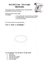 English Worksheets: guideline through WRITING