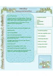English Worksheets: Reading comprehension: FROGS