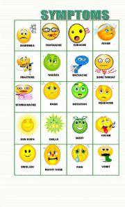 English Worksheet: 20 Symptoms flashcards