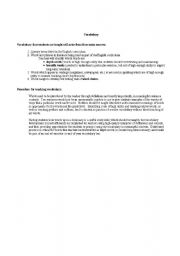 English Worksheets: Vocab