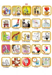English Worksheets: Do and Make, a flashcards to find its difference (1-2)