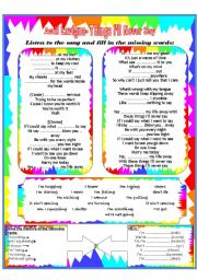 English Worksheet: Song worksheet-Present Simple and Continuos