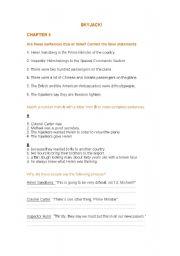 English Worksheets: Skyjack!  Chapter 5