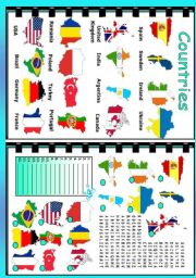 English Worksheet: Countries