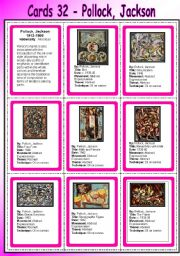 cards 32 pollock jackson abstract expressionism. Black Bedroom Furniture Sets. Home Design Ideas