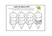 English Worksheet: Mike�s Ice Cream Party