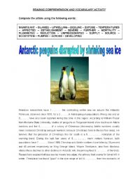 English Worksheet: ANTARCTIC PENGUINS