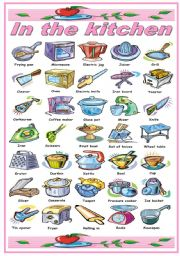 Kitchen Tools Worksheets