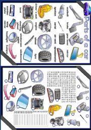English Worksheets: Parts of a car