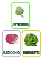 Vegetable flash-cards - PART 5