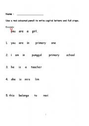 Printables Punctuation Practice Worksheets english teaching worksheets punctuation practice 1b