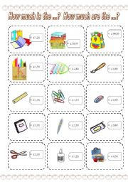 How much is the ...? How much are the ...? GAME (4) (3 PAGES)