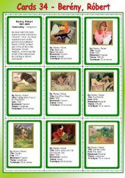 Cards 34 - Berény, Róbert - ( Fauvism)