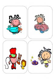 English Worksheets: CARDS ACTIONS SET 1 12 CARDS