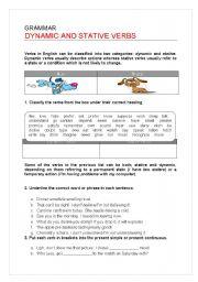 English Worksheet: Active and Stative Verbs