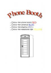 English Worksheets: Phone Booth