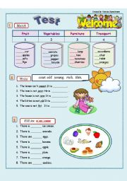 English Worksheets: Vocabulary Revision - 4th/5th grade( 3 pages)
