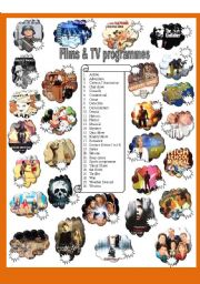 English Worksheet: Films and TV programmes - Part 1