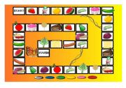 English Worksheet: THE VERY HUNGRY CATERPILLAR BOARD GAME