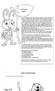 English Worksheets: Little Ant