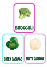 Vegetable flash-cards - PART 6
