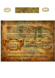 English Worksheet: Lord of the Rings Reading